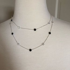 Jewelry - Black & Clear Crystal Necklace